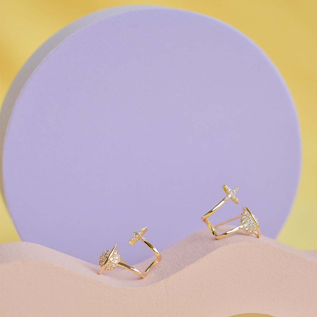 World Oyster Crawler Earrings