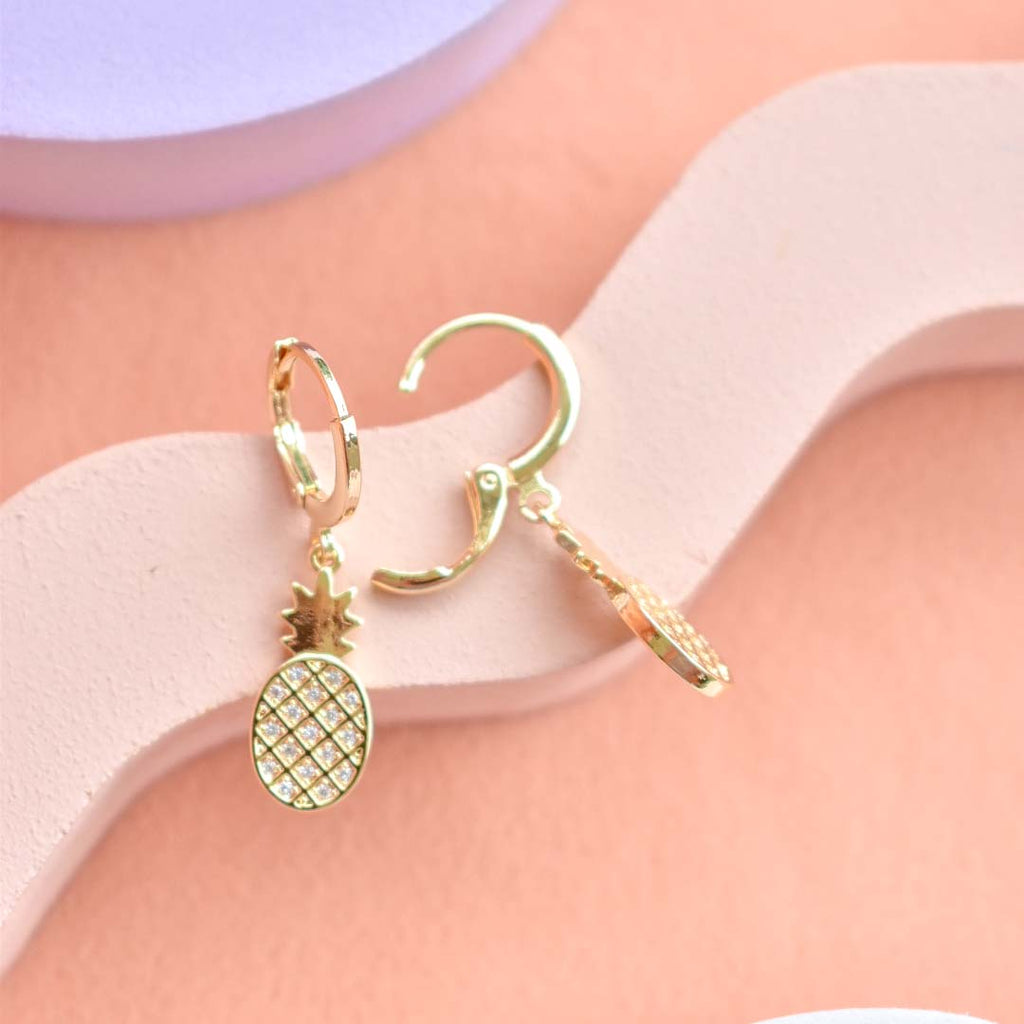 Pineapple Huggie Earrings