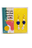 When you Can't find Sunshine Be the Sunshine - Pearl Earrings