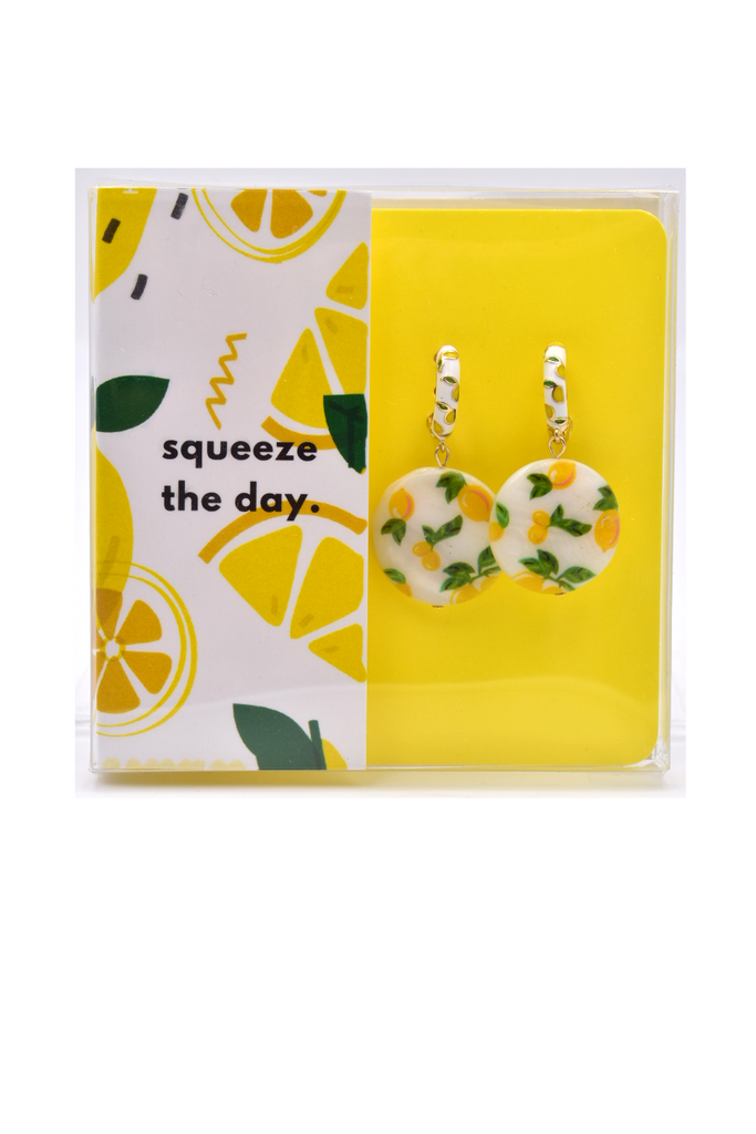 Squeeze The Day - Lemon Earrings