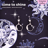 Time To Shine Silver Earrings