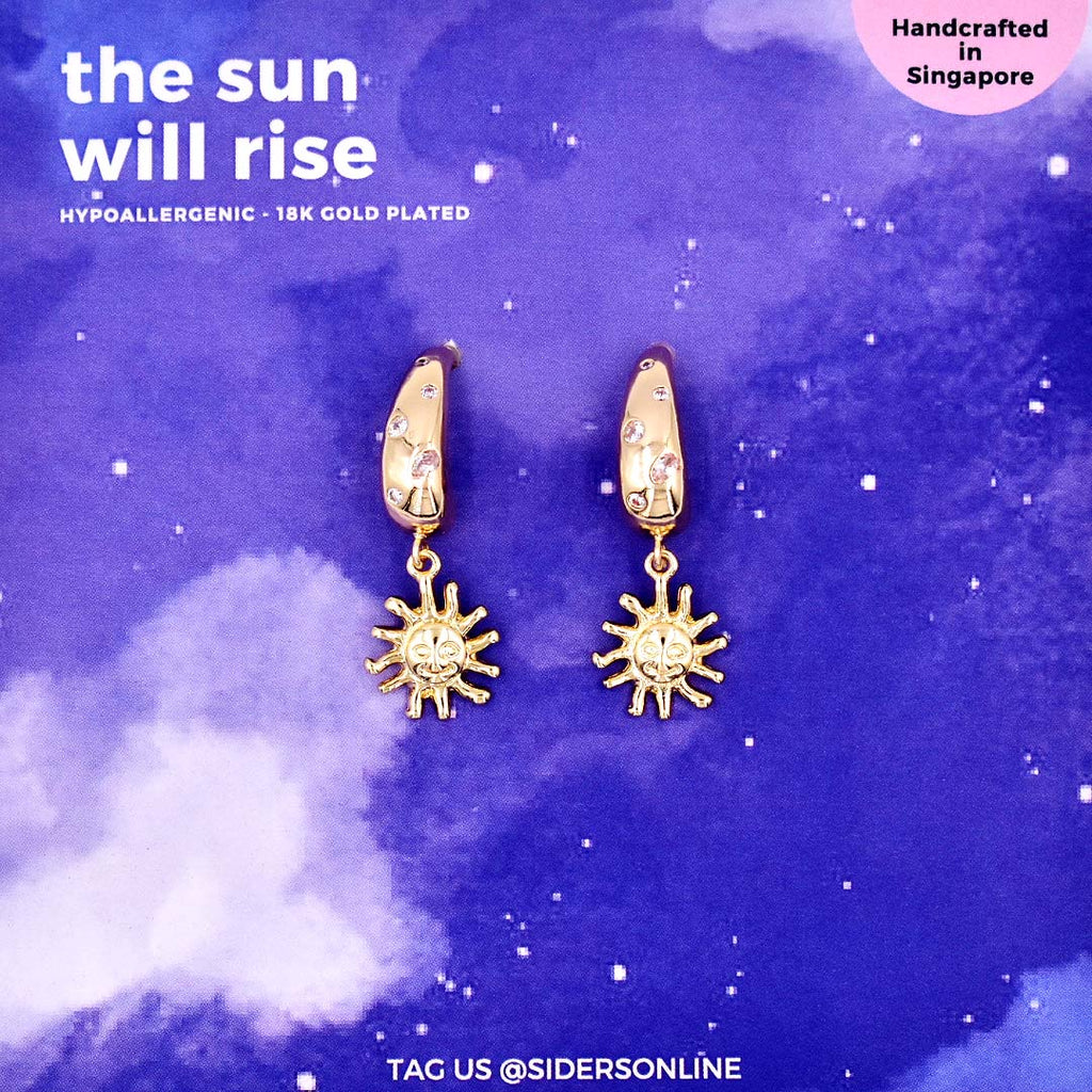 the sun will rise earrings
