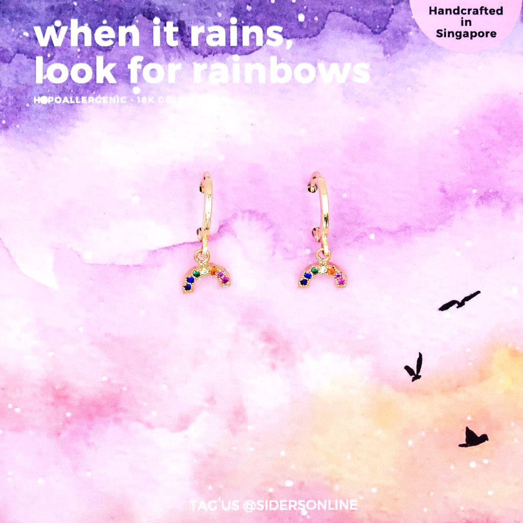When it Rains, Look For Rainbows Earrings