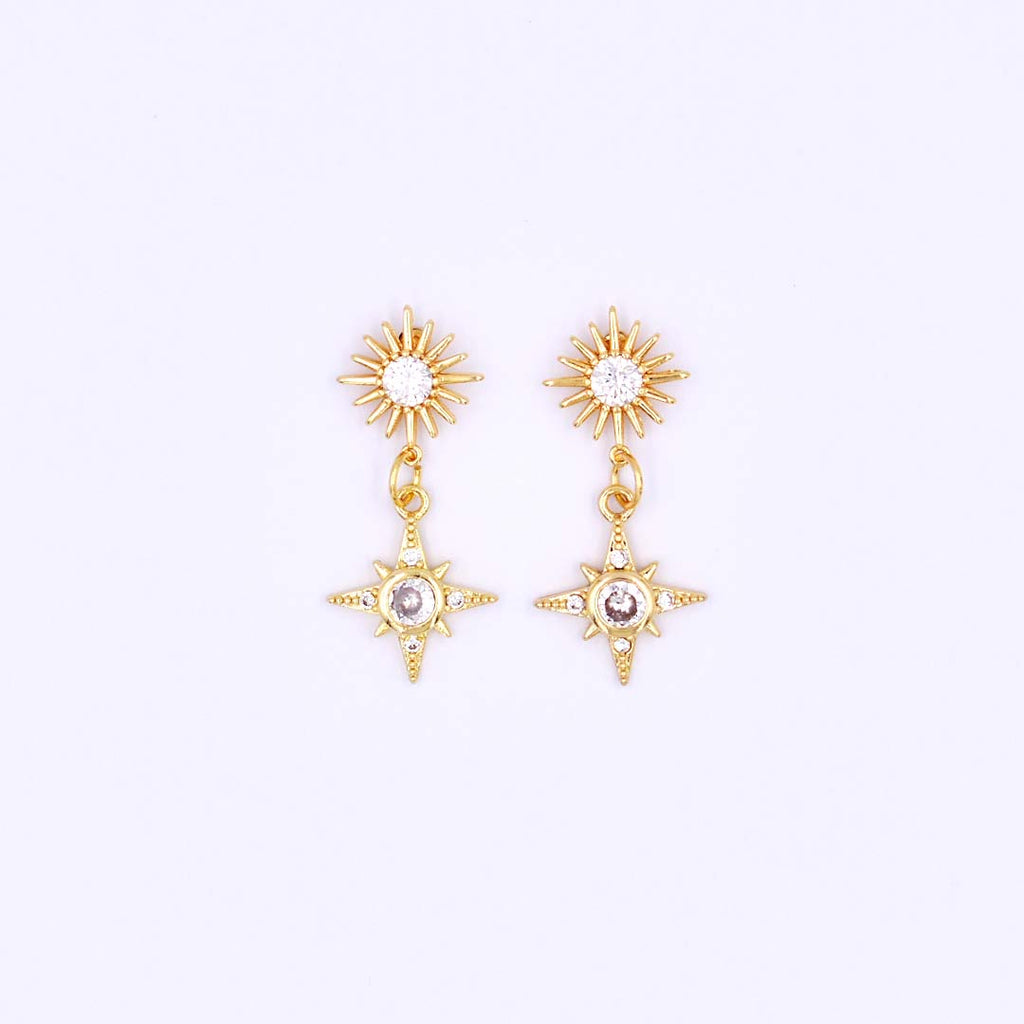 Stars Can't Shine Without Darkness Short Earrings