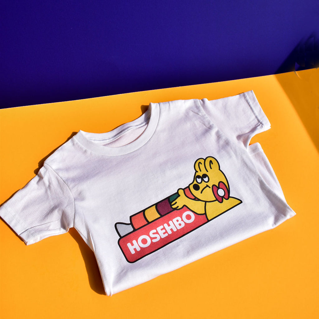 Hosehbo Gummy Tee in White - Kids