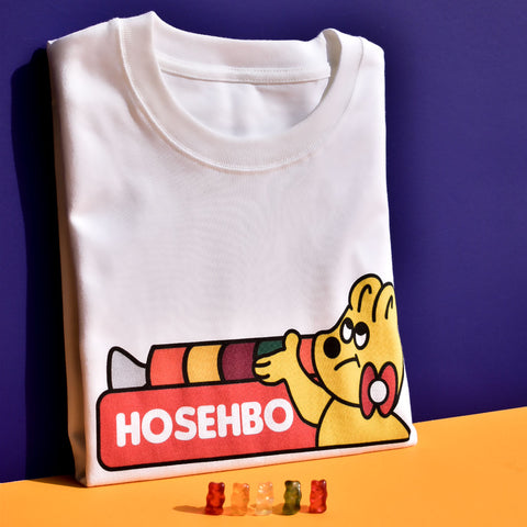 Hosehbo Gummy Oversized Tee in White - Adult