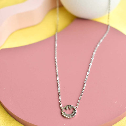Smiley Necklace - Silver