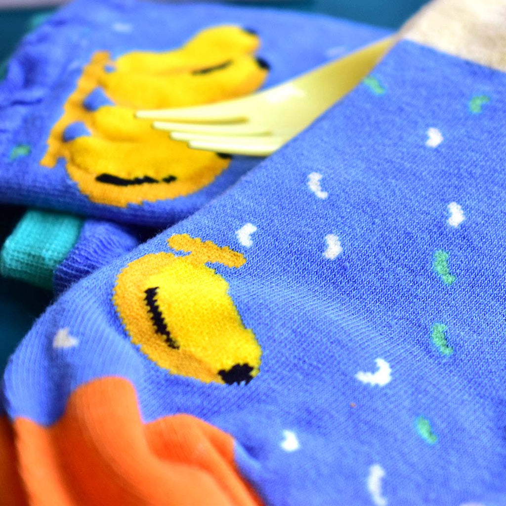 Ruffles Banana Socks