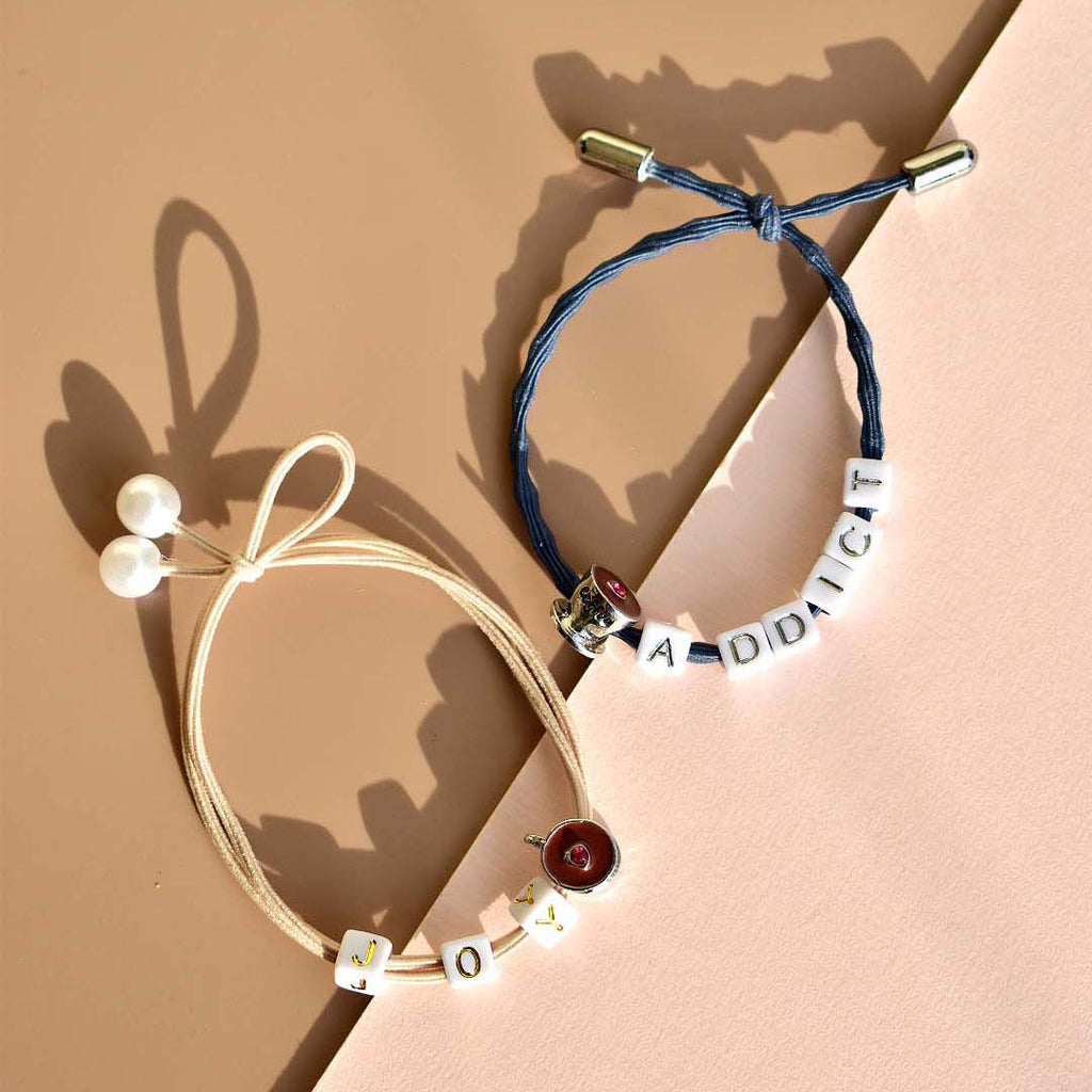 Customizable Hair Tie - Coffee
