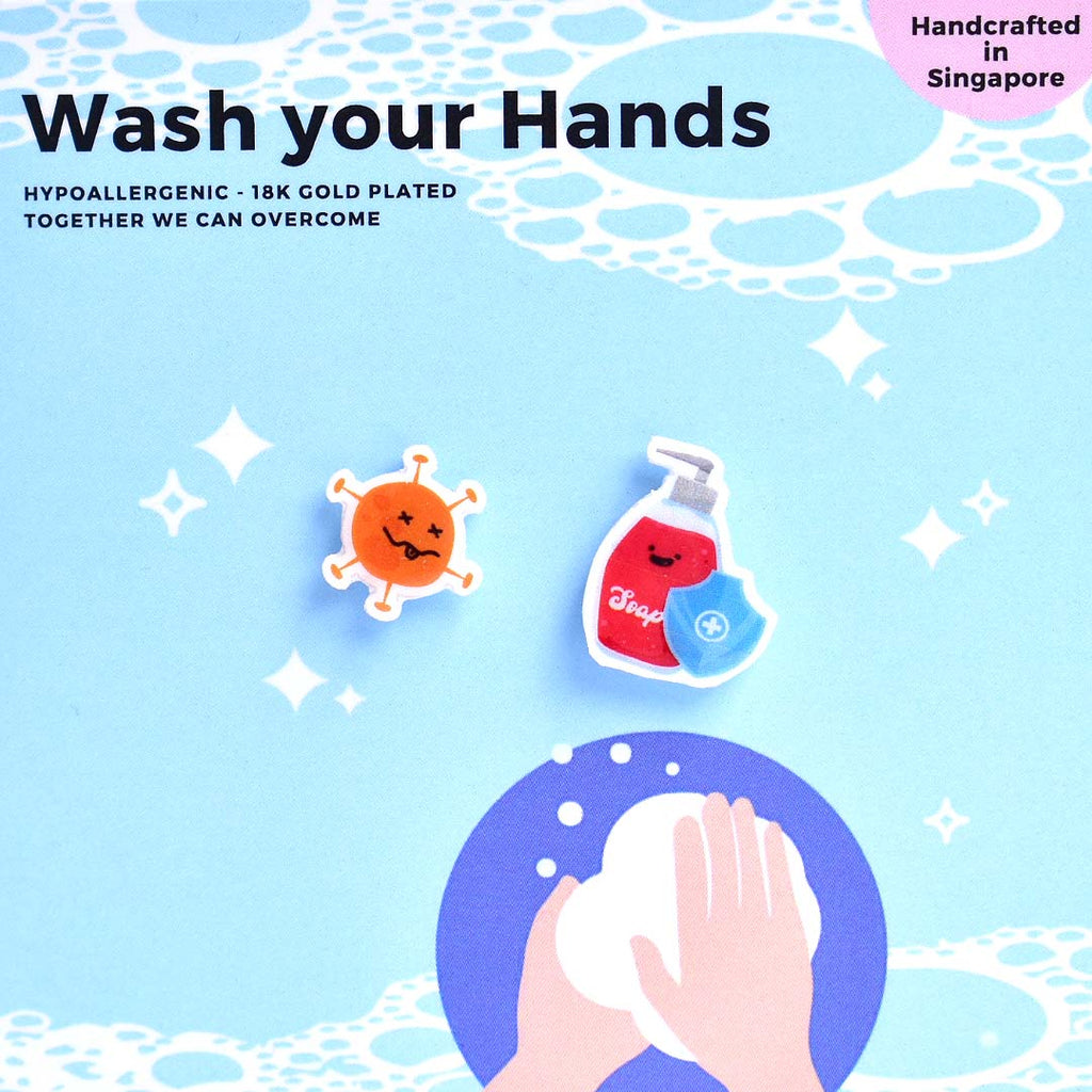 Wash Your Hands Earrings