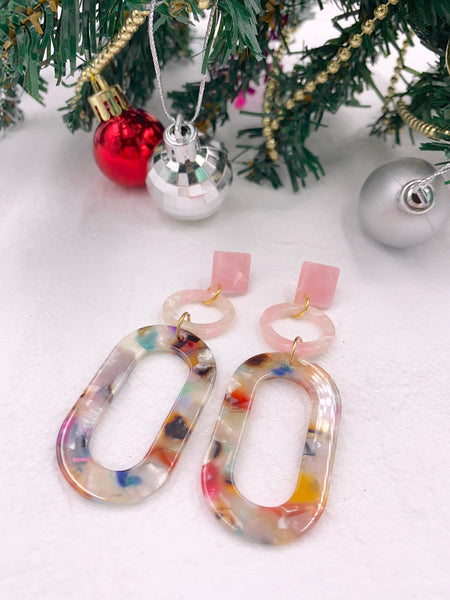 Diana Luxe Resin Earrings