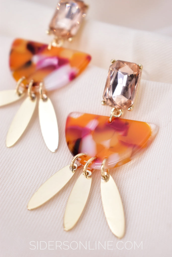 Dance the Night - Resin Drop Earrings