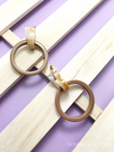 Essie Rustic Hoop Earrings (Designed by Sidersonline)