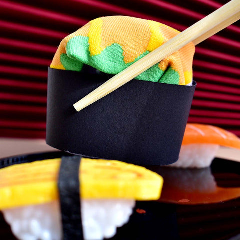 Sushi Socks - Ikura Sushi and Salmon Sushi