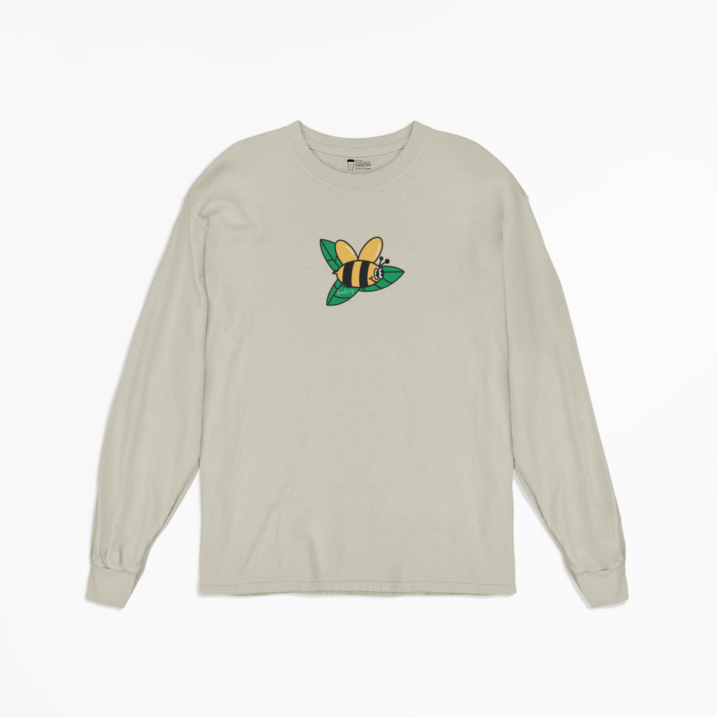 Beeleaf Long Sleeve Tee in Beige [Unisex]