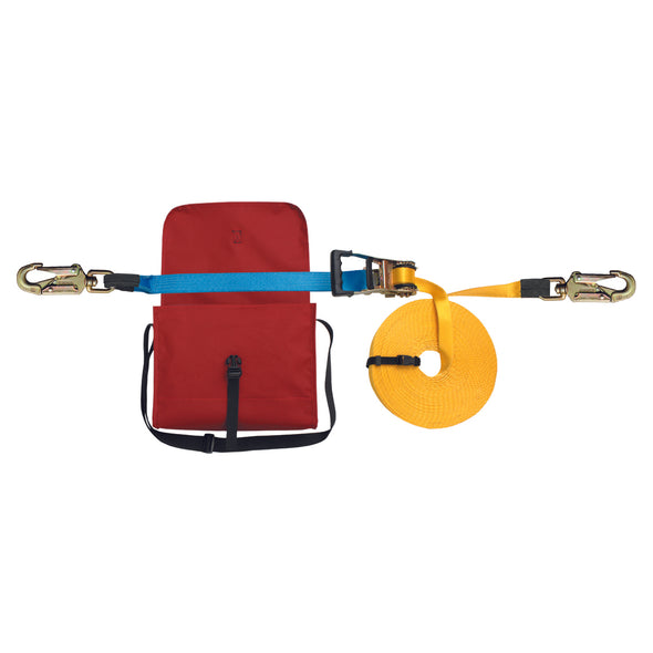 Protekt Adjustable Webbing Horizontal Lifeline Set - 20Mtrs