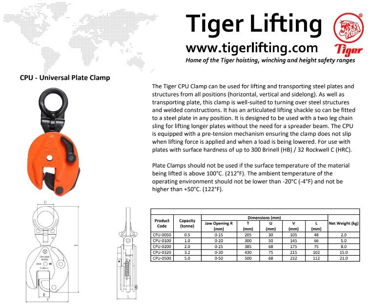 Tiger Universal Plate Clamp (CPU)