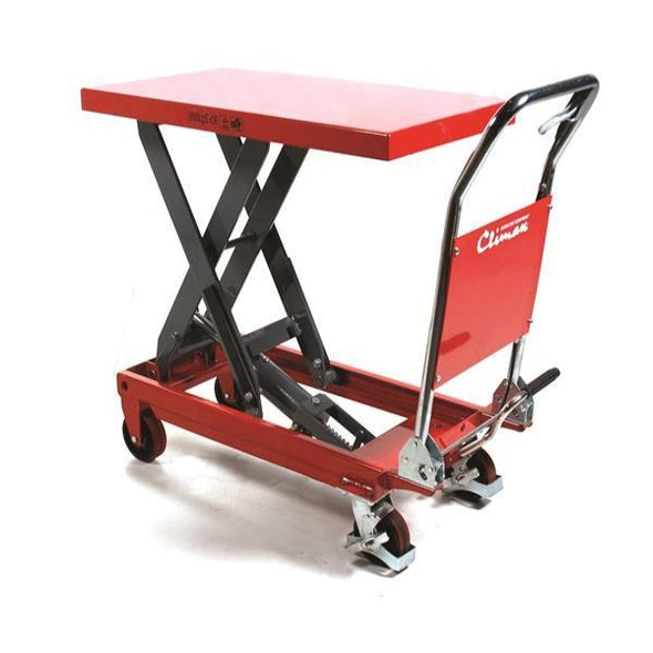 Climax 150kg Material Handling Lift Table Red Photo Back