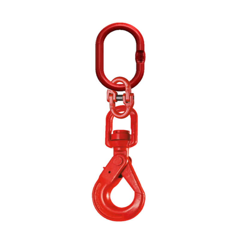 Short Stuck for room Drop Single Leg Chain with Swivel Self Locking Safety Hook