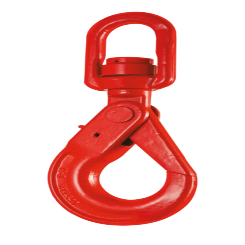 Self Locking Swivel Hook with Bearing and Safety Latch Grade 80 KMS