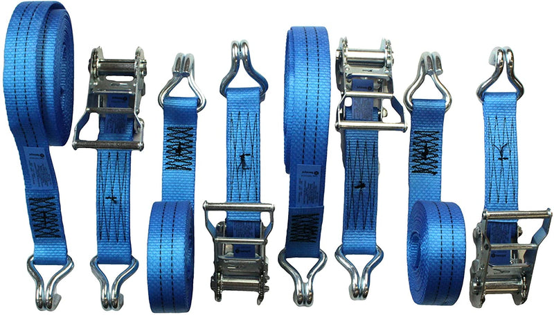 Tensys Box of 20 Heavy Duty 35mm Professional Ratchet Straps 6m 2Tonne Breaking Force for Lashing Loads up to 1Tonne