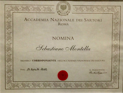 Master Tailor Montella Awarded National Academy of Tailors