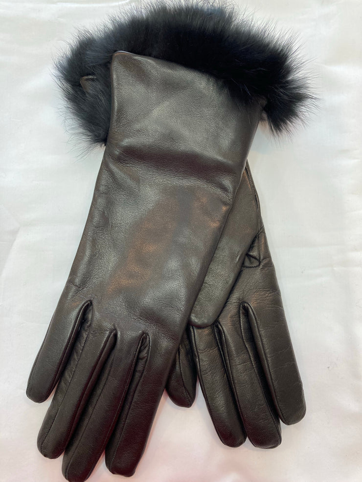 Fratelli Orsini Italian Cashmere Lined Rabbit Fur Winter Gloves