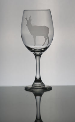 Xl 20oz Wine Goblet Pronghorn Antelope