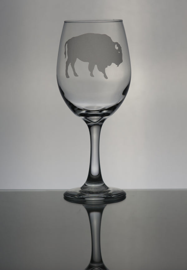 GL005B; 20oz Wine Goblet w/Buffalo