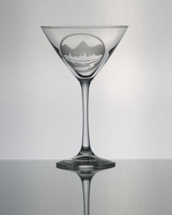 GL013T; Martini Glass w/Teton Emblem