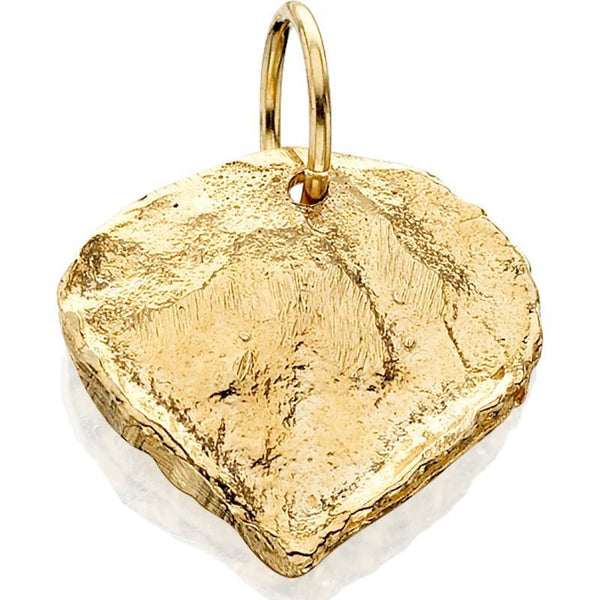 HC311; 14K Yellow Gold Medium Aspen Leaf Charm
