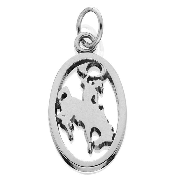 HCS003; Silver Small Bucking Bronco Charm
