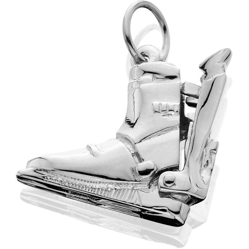 Silver Lg Ski Boot Hinged Rear Entry