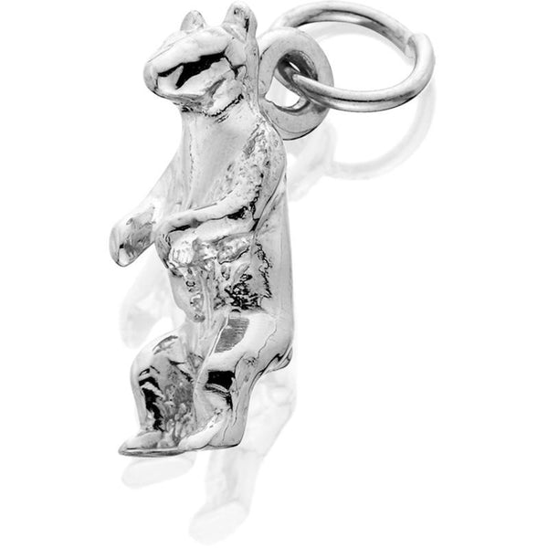 Silver Bear Arms Down Standing J-Ring