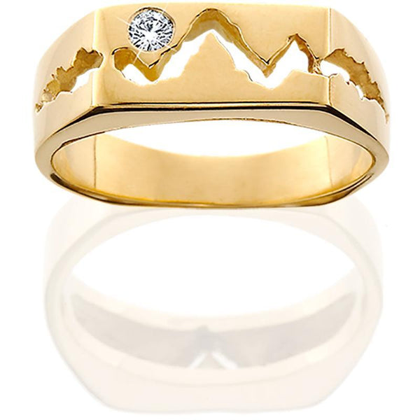 14KY Womens 6MM Teton Mountain Ring