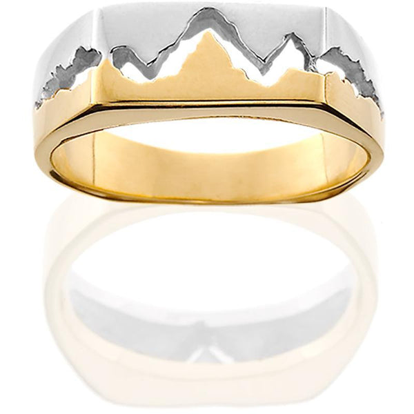 14KTT Womens 6MM Teton Mountain Ring