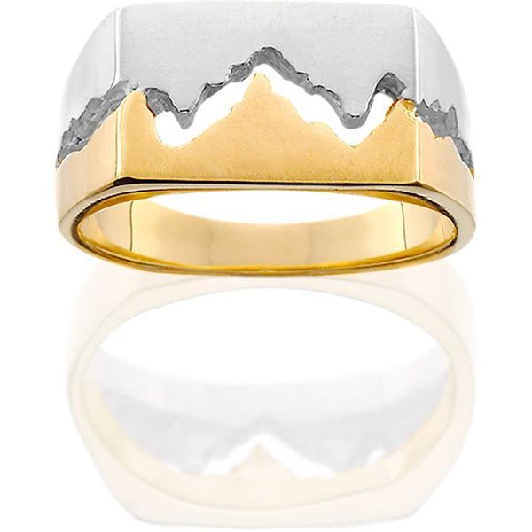 14KTT Womens 10MM Teton Mountain Ring