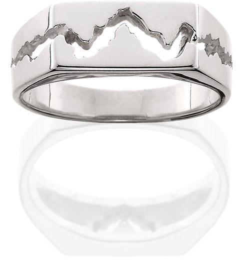 14KW Mens 7MM Teton Mountain Ring