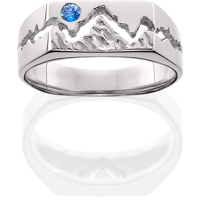 HR201; Silver Men's Teton Ring