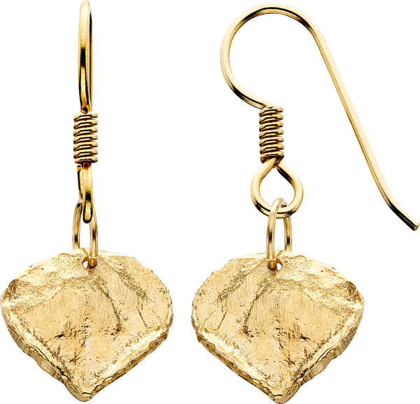 14ky Earrings Md Aspen Fr/w Aspen Leaf French Wires