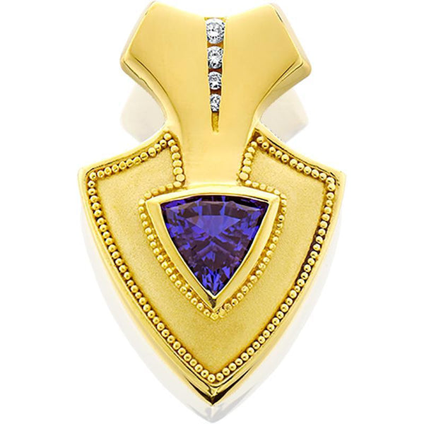 14ky Pendant Tanzanite 1.86ct Diamonds .08tw