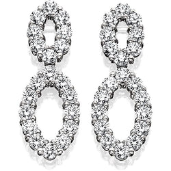 LAZAREKAP0006; Platinum and Diamond Earrings