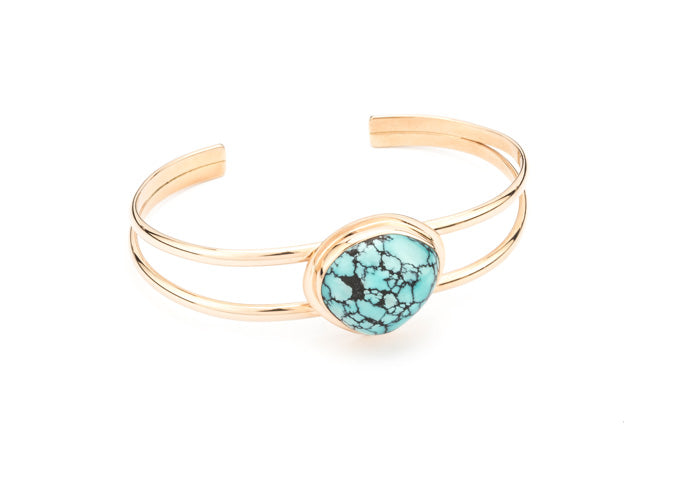 PM117; 14K Yellow Gold Bracelet w/Turquoise