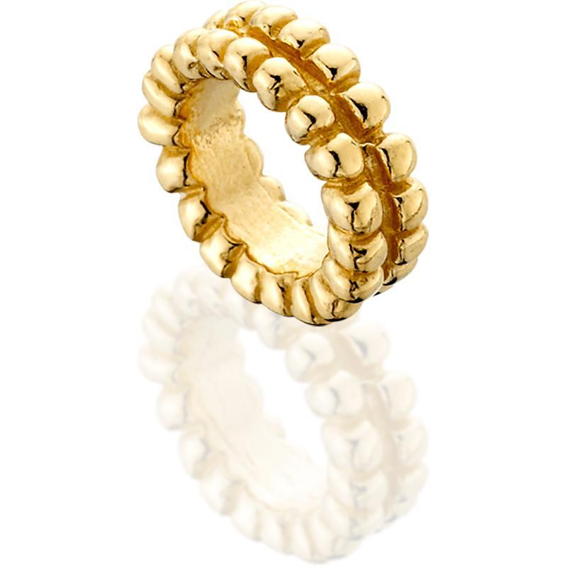 SUN512; 14K Yellow Gold Double Beaded Spacer Wheel