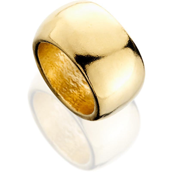 SUN513; 14K Yellow Gold Domed Shiny Spacer Bead