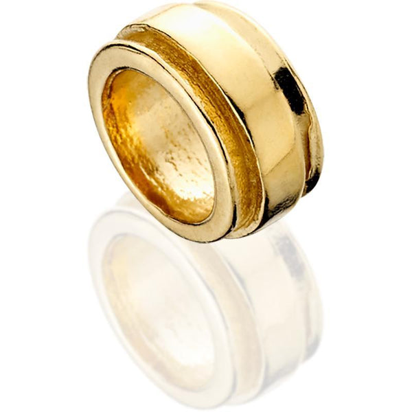 SUN515; 14K Yellow Gold Spacer Bead w/Stepped Edges