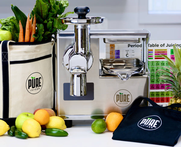 PURE JUICER | Tracy Anderson Special | A TWO-STAGE, TRUE COLD-PRESS STAINLESS-STEEL JUICER