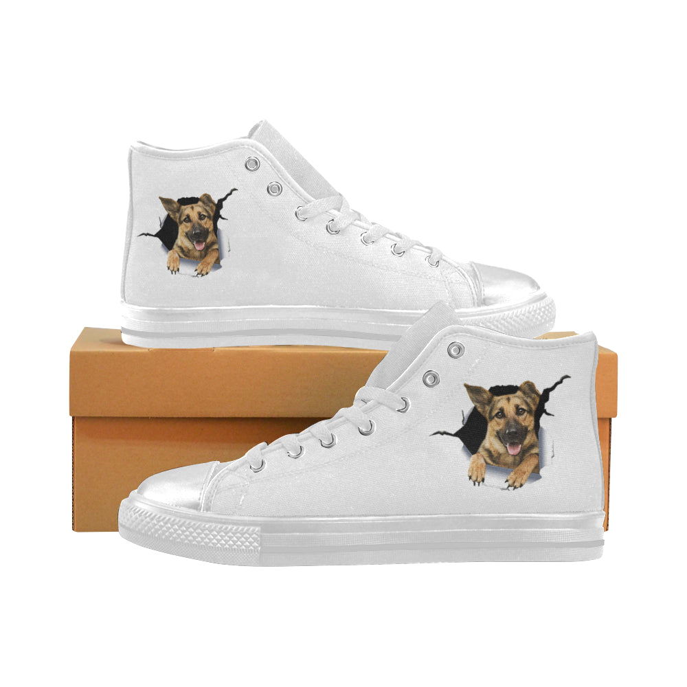 Cute GSD Converse Aquila High Top Canvas Women's Shoes