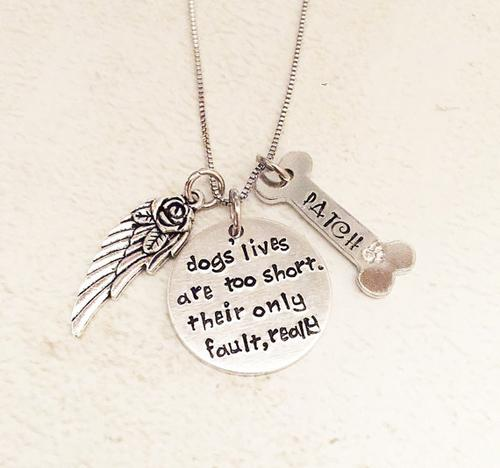 4EVERTOGETHER™: Beautiful Memorial Hand-Stamped Pet Necklace