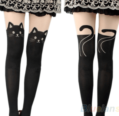 Black Knee High Catyhose Stunning Pets